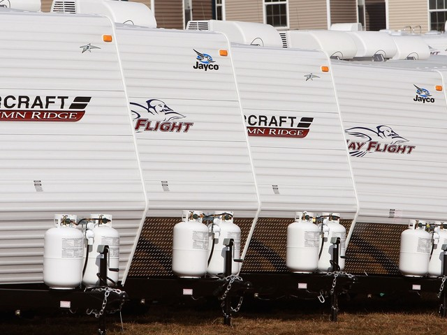 RV sales are plummeting, which could mean a recession is on its way — and President Trump's trade war isn't helping the struggling industry