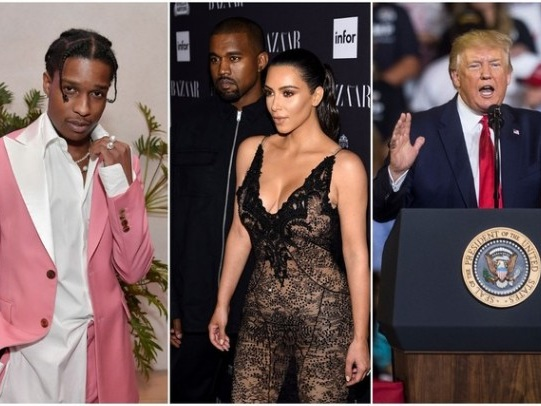 Trump Reportedly Working To Free A$AP Rocky Thanks To Kim & Kanye