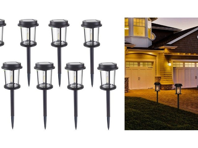 Big Savings! UNNYLLY Solar Pathway Lights Outdoor Solar Powered LED, 8Pack