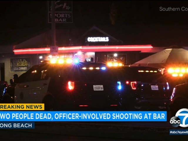 2 dead, including suspect, after shooting at Long Beach bar; police fire at suspect