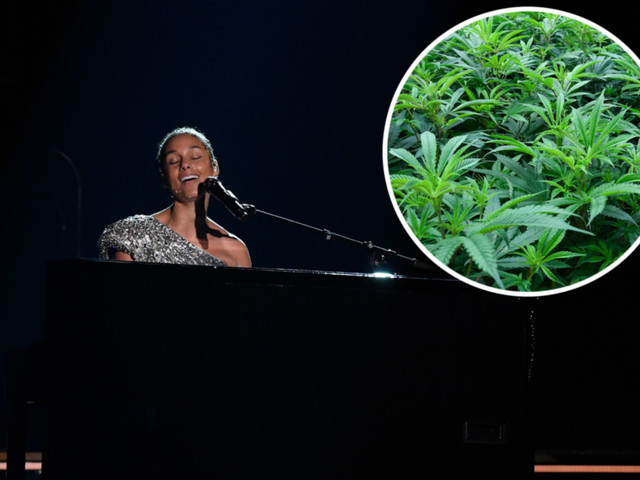 Weed company brazenly adopts Alicia Keys' Grammys musical number as advert