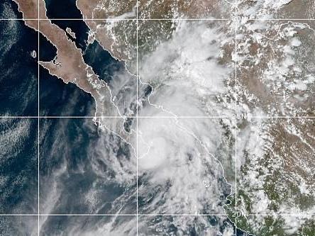 Hurricane Lorena hugging coast of Baja California peninsula