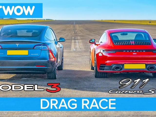 Can The Tesla Model 3 Performance EV Outgun A Porsche 911 Carrera S?