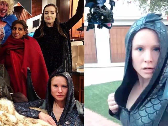 You Better Believe Kristen Bell and Dax Shepard Went ALL Out For the Game of Thrones Premiere