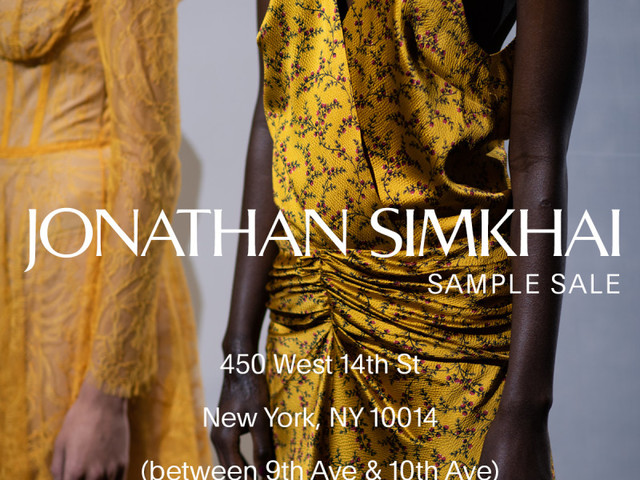 Jonathan Simkhai Sample Sale, 12/11 - 12/15, NYC
