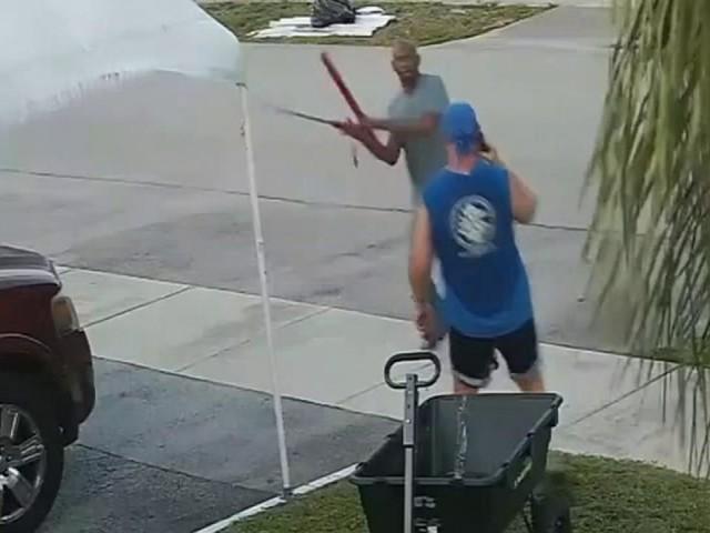 Florida man attacks jogger with sword over wheelbarrow left in trash pile: police