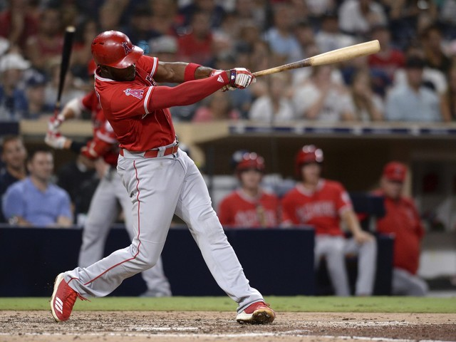 Upton homers, drives in 3 to lift Angels past Padres 7-3