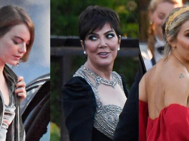 Emma Stone, Kris Jenner, & Sienna Miller Arrive at Jennifer Lawrence & Cooke Maroney's Wedding!