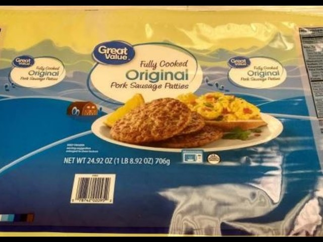 Walmart sausage products recalled due to possible salmonella contamination