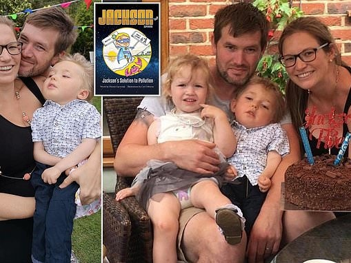 Father pens second children's book starring his terminally ill son, 5, as a 'pollution superhero'