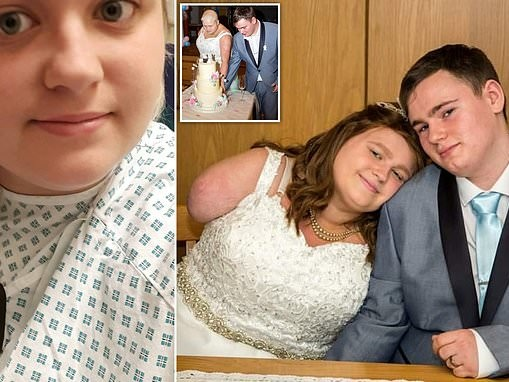 Terminally ill cancer patient marries after having her arm amputated to bide her more time