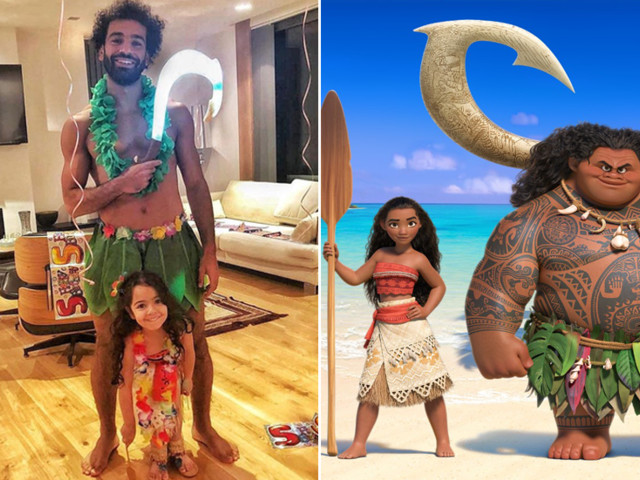 Liverpool star Mohamed Salah dresses up as Disney character to celebrate daughter's birthday