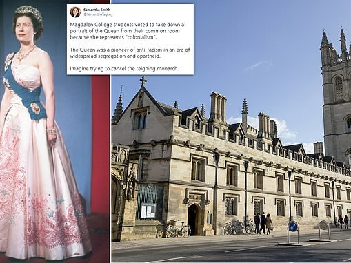 Oxford University college votes to remove portrait of the Queen from common room