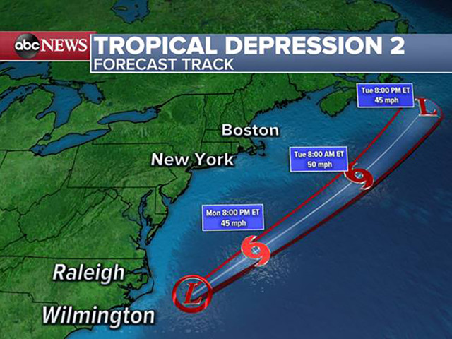 Tropical Storm Bill forms in the Atlantic; Expected to be short-lived
