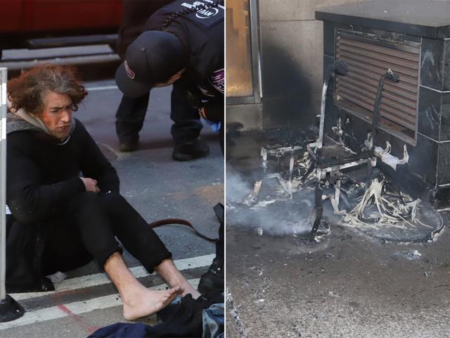 Man in wheelchair catches on fire in Manhattan