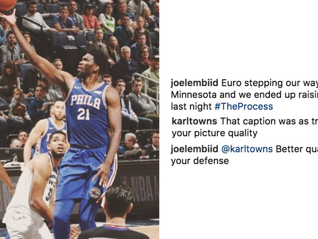 Joel Embiid gets the last laugh after Karl-Anthony Towns tries to roast him on Instagram