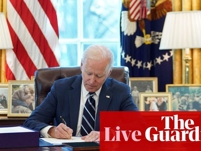 Joe Biden to sign $1.9tn Covid relief package into law shortly – live