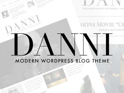 Danni — Minimalist WordPress Blog Theme (Personal)