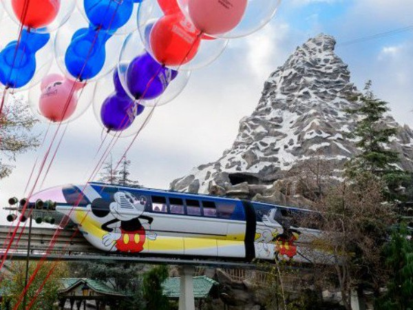 Disneyland Monorails Get a Mickey Mouse Makeover