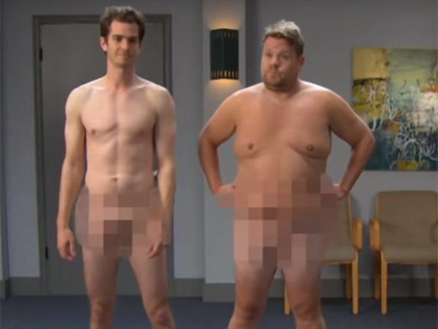 Andrew Garfield and James Corden Strip Down for NSFW Game of Thrones Audition