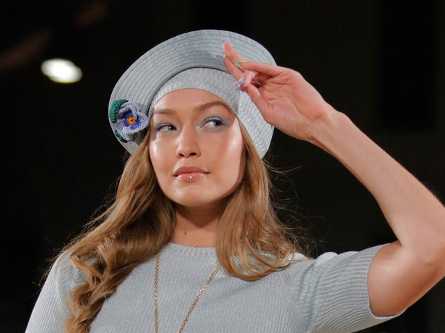 Gigi Hadid suffered a wardrobe malfunction on the Marc Jacobs runway