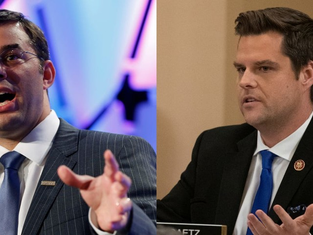 Reps. Justin Amash and Matt Gaetz got into a Twitter spat over Trump's impeachment, and it was as if they were talking past each other