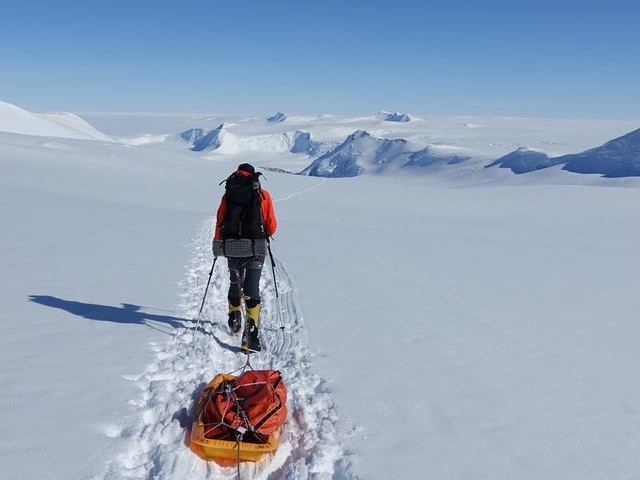 The first person to cross Antarctica alone and unaided says he pooped his pants less than halfway through - and had to continue using the same underwear for 38 days