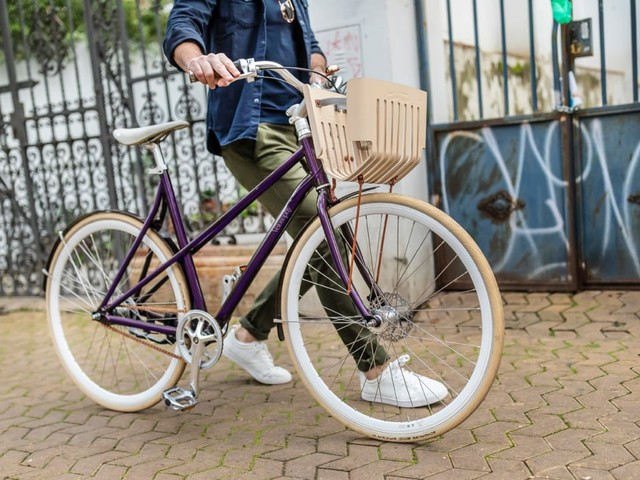 I spent a day riding a bike made entirely of old Nespresso pods