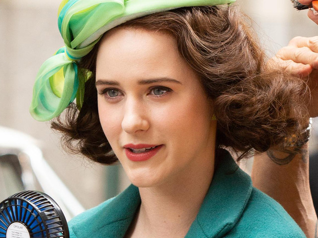 Rachel Brosnahan Gets Glam While Filming 'The Marvelous Mrs. Maisel'