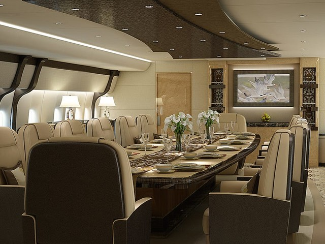 Take a look inside 9 of the most luxurious private jets in the world (BA, ERJ, GD, BBD.B)