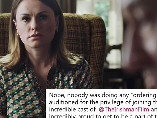 Anna Paquin 'incredibly proud' to have role in Scorcese's The Irishman