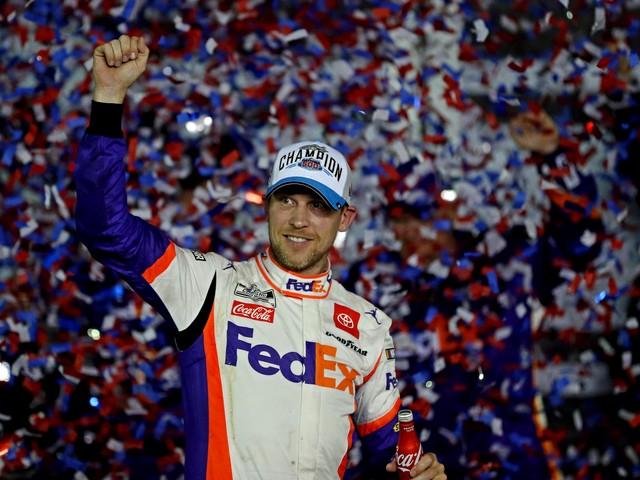 In photo finish, Denny Hamlin wins second straight Daytona 500 as Ryan Newman injured in scary crash