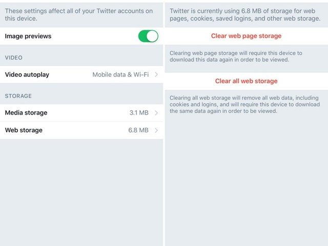 Twitter for iOS Gains New Option for Clearing Cache