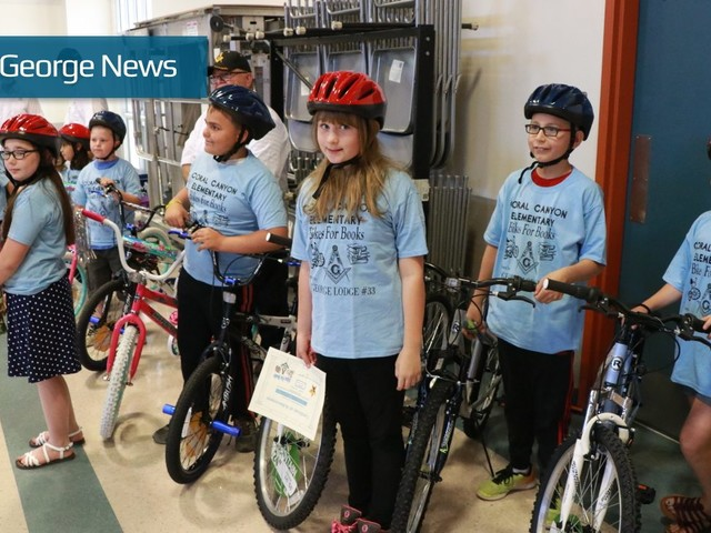Coral Canyon Elementary students win new wheels in 'Bikes for Books' program
