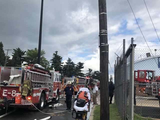 Bus fire brings massive turnout of police, fire trucks to Northeast D.C. site