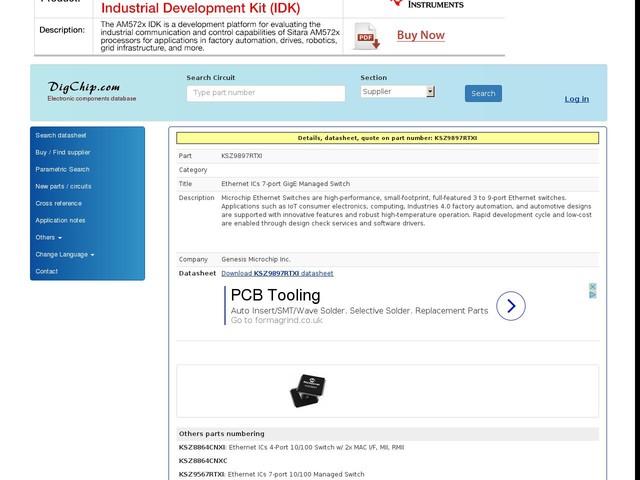 KSZ9897RTXI: Ethernet ICs 7-port GigE Managed Switch