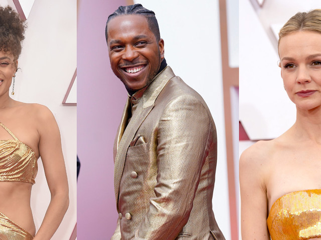 Andra Day, Carey Mulligan & Leslie Odom, Jr. All Went Gold For The Oscars 2021!