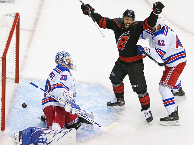 Nothing goes right for Rangers in Game 1 loss to Hurricanes