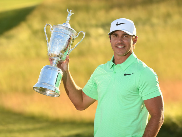 Koepka tames wind, nerves to win U.S. Open by four shots