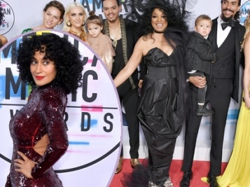 IT'S A MOMENT! Tracee Ellis Ross & Mama Diana Ross Make AMAs History, And The Whole Fam Is There For The Legend