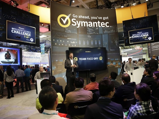 Symantec's stock is spiking on a report Broadcom is in advanced talks to buy the cybersecurity firm (AVGO, SYMC)