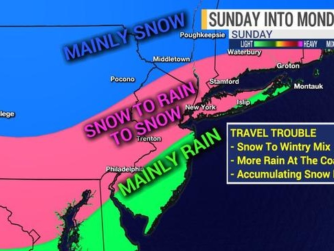 """Impactful Winter Storm"" Could Blast Northeast Sunday Through Monday"