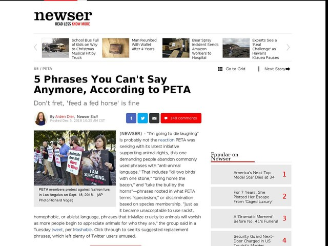 5 Phrases You Can't Say Anymore, According to PETA