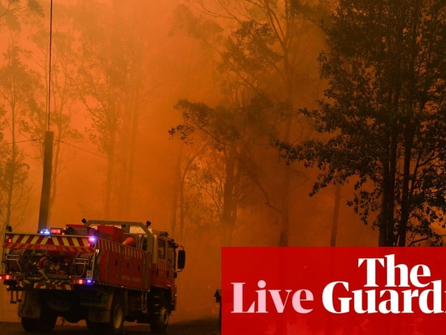 Australia fires: helicopter crashes as 140 bushfires rage in NSW and Queensland – live