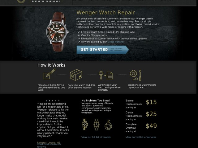 Wenger Watch Repairs - Watch Repairs USA