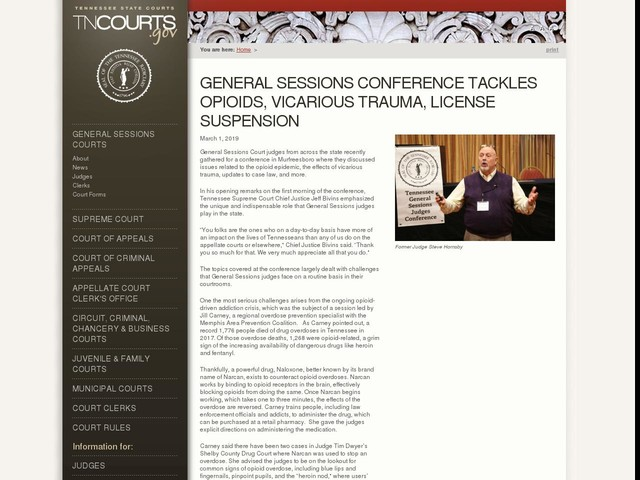 General Sessions Conference Tackles Opioids, Vicarious Trauma, License Suspension