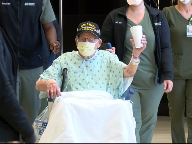 WWII veteran, COVID survivor released from hospital for 104th birthday