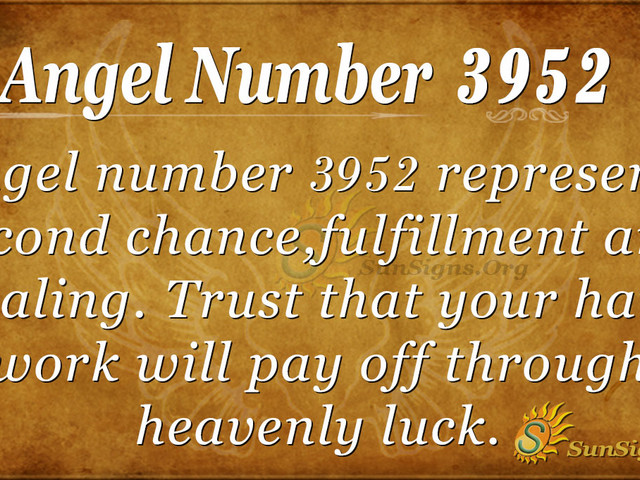 Angel Number 3952 Meaning: Lucrative Chances Ahead