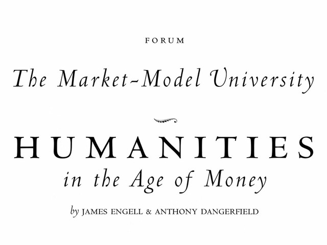 From the Archives: The Market-Model University