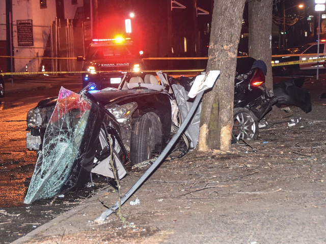 Two dead, three injured in New Jersey car crash: police
